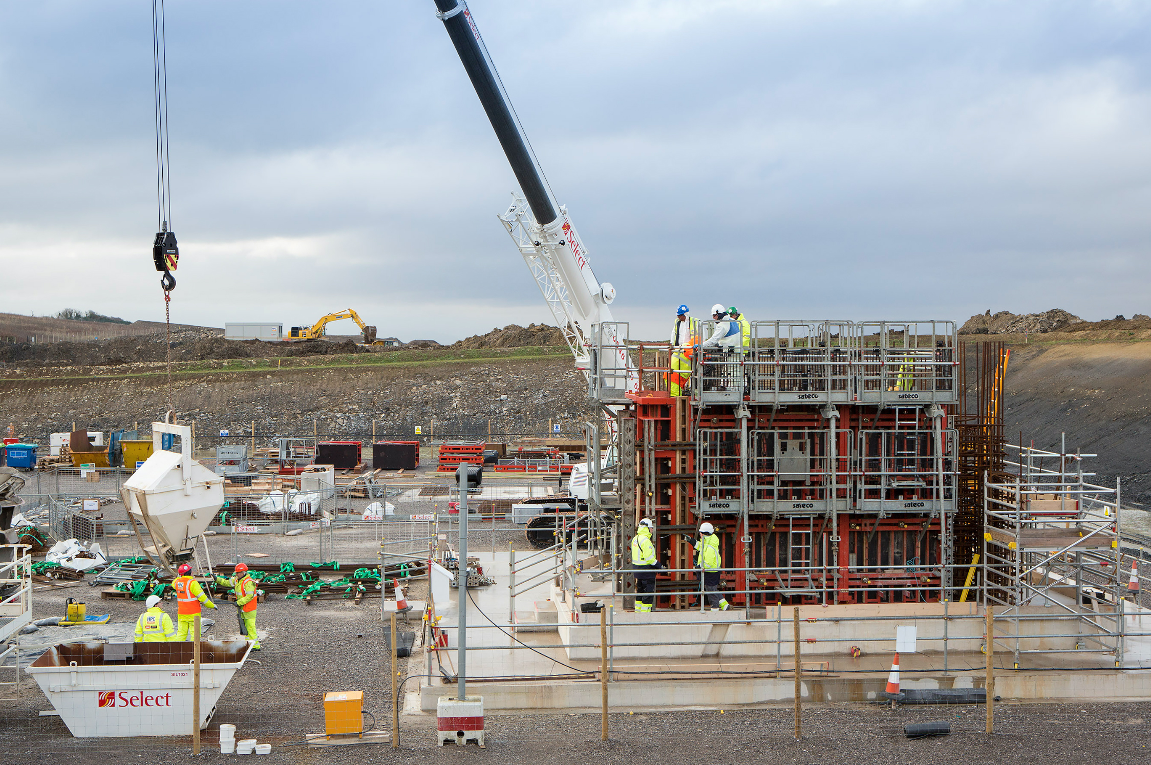 Hinkley Point C nuclear power plant construction site