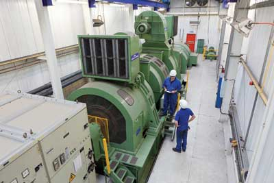 The balancing pit in Birmingham incorporates an HV motor and advanced electronics and